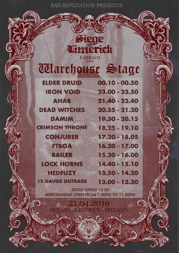 This sunday we take on the Seige of Limerick  in @mydolans , a full day of heavy hitters . we play the Kasbah stage at 20.50PM <br>http://pic.twitter.com/SKyn1tNnux