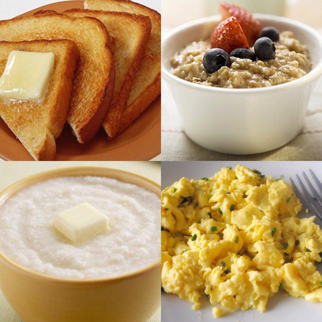 Toast Oatmeal Grits Scrambled Eggs #1GottaGo