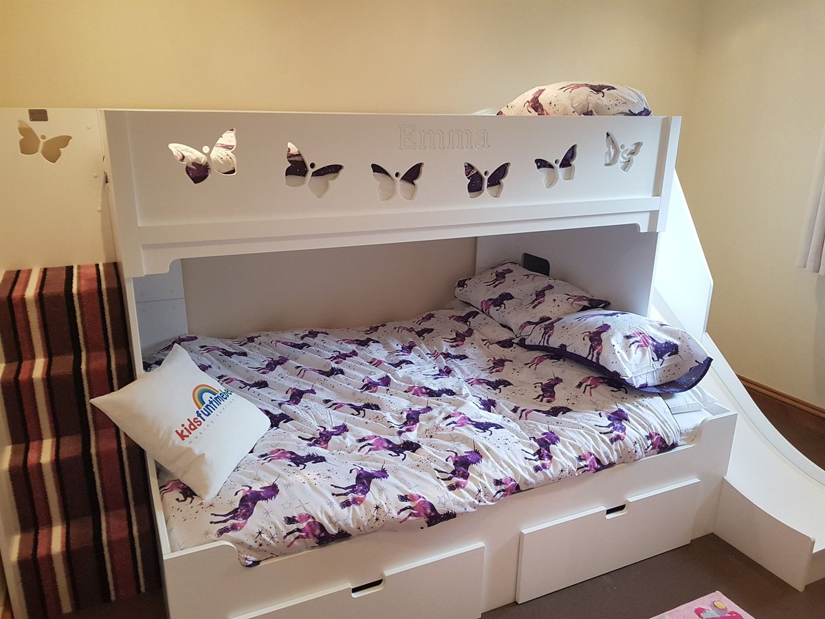 Picture of: Kids Funtime Beds On Twitter How Would Your Child React To Receiving One Of These Amazing Slide Beds For Their Bedroom Kidsfuntimebeds Bunkbed Playhouse Slide Custommade Safecertified Fun Https T Co Ccgk1hmavz