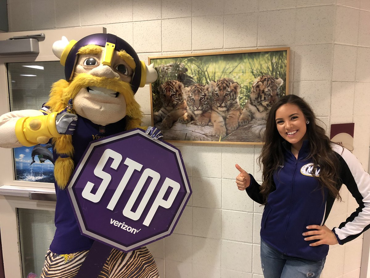 Yesterday we STOPPED by North Trail Elementary to share our #STOPBullying message! 600 students pledging to STOP Bullying was a great way to brighten a rainy day! #Skol