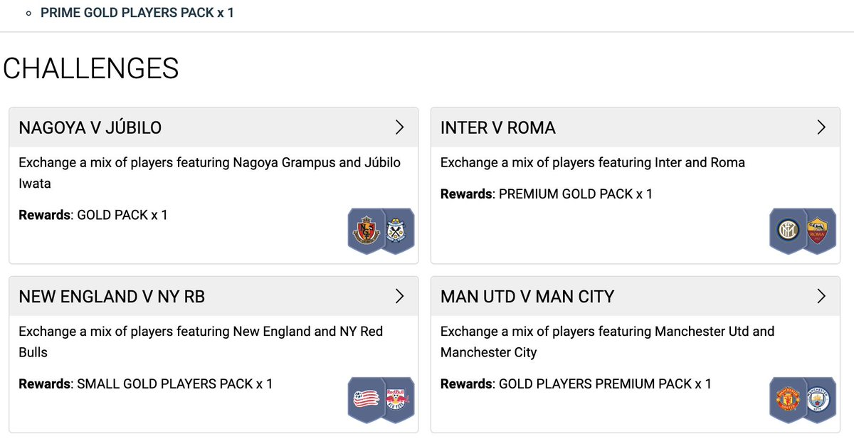 Get those packs for TOTKS (or TOTS, you know, whatever)  https://www.futhead.com/squad-building-challenges/sets/627/marquee-matchups/ …