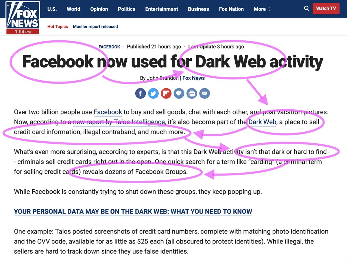 """""""You keep using that word. I do not think it means what you think it means."""" #darkweb #cyber https://www.foxnews.com/tech/facebook-dark-web-activity…"""