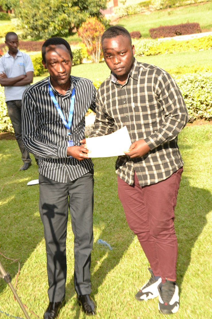 Students Innovation Competition: Innovation projects which surpassed others were Vehicle Card Assist Starting System from @iprckarongi , Meat Powder from @IPRCMusanze and IMENYE App from @TumbaCollegeTCT. Though the winners were awarded in particular, all participants got awards.