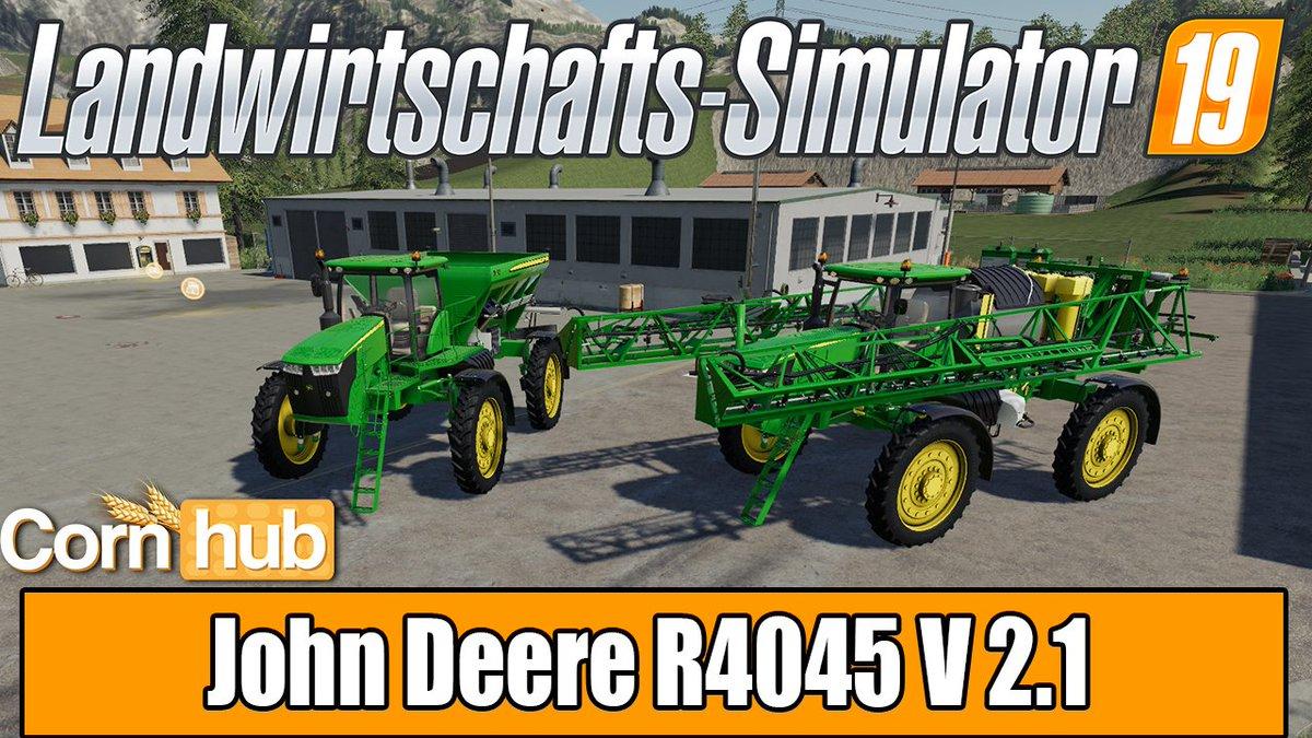 John Deere R4045 V 2.1: Modvorstellung und Download verfügbar!  ► Zum Mod: https://cornhub.army/john-deere-r4045-v21…  #farmingsimulator19 #landwirtschaftssimulator19 #ls19 #fs19 #ls19mods #fs19mods #mods #ls19modvorstellung