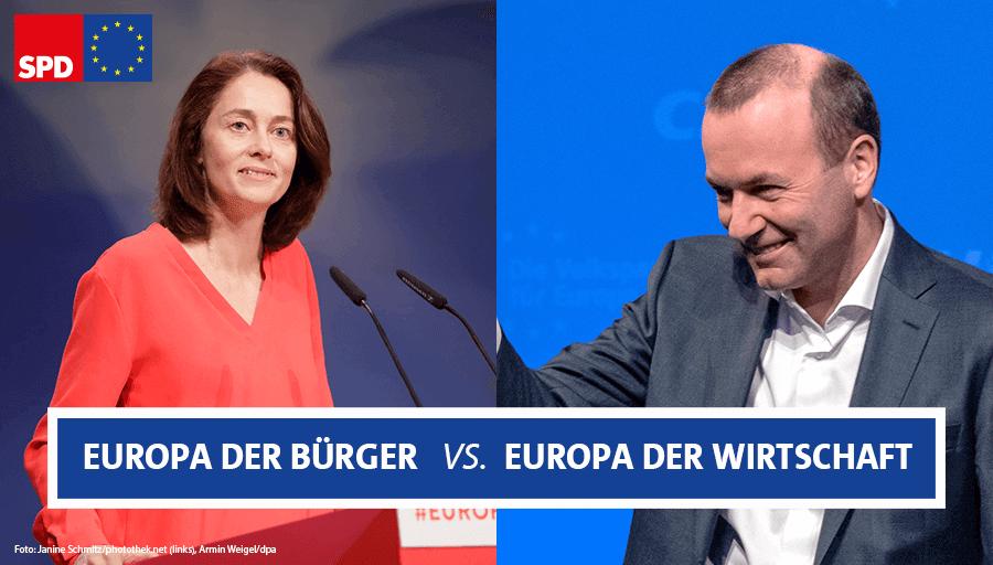 .@katarinabarley bei BR extra: Es ist eine Richtungswahl. Auf der einen Seite steht ein #Europa der Wirtschaft. Auf der anderen Seite steht unsere Vision eines soziales Europas für die Bürgerinnen und Bürger. #EuropaistdieAntwort https://t.co/Q7fzVqr91Q