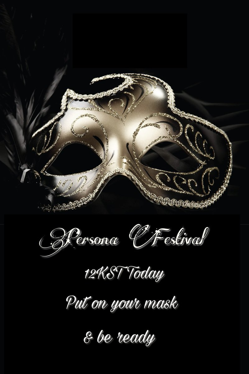 Are you ready to have some fun while streaming and promoting? 12KST is when our festival will start Put on your mask & join us 🎭