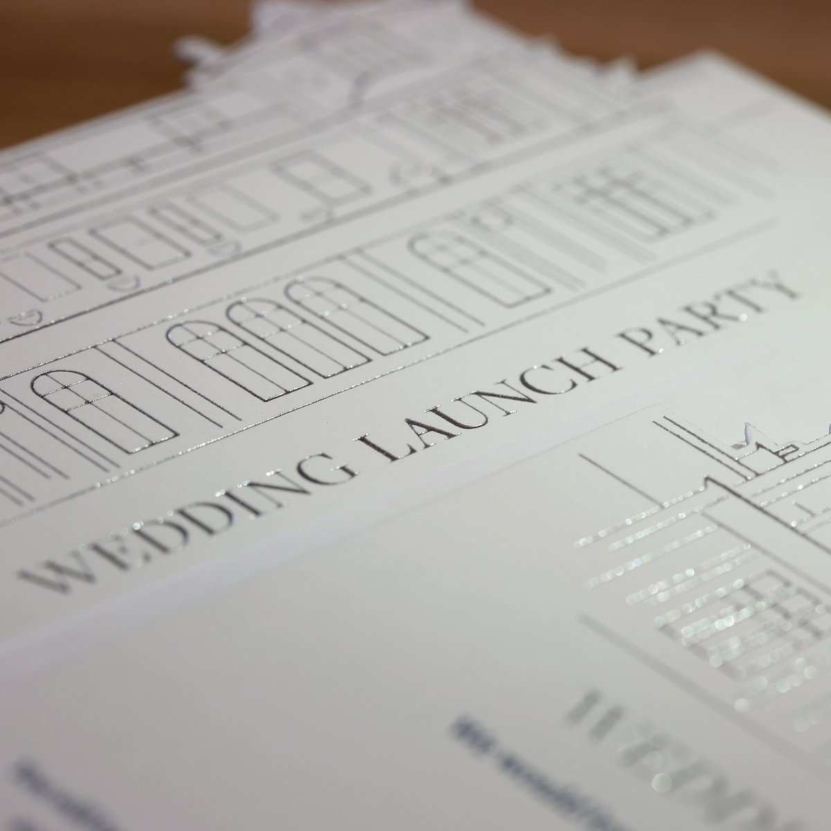 Sneak peak of some of our latest work for @downhall01. Bespoke, die-cut, foil blocked and letterpressed Wedding launch party invites, printed by Royal Warrant holders @BarnardWestwood  #Design #GraphicDesign #Print #Printing #Letterpress #Hotel #Hertfordshire #DownHall #Luxury https://t.co/7BEByqDY1L