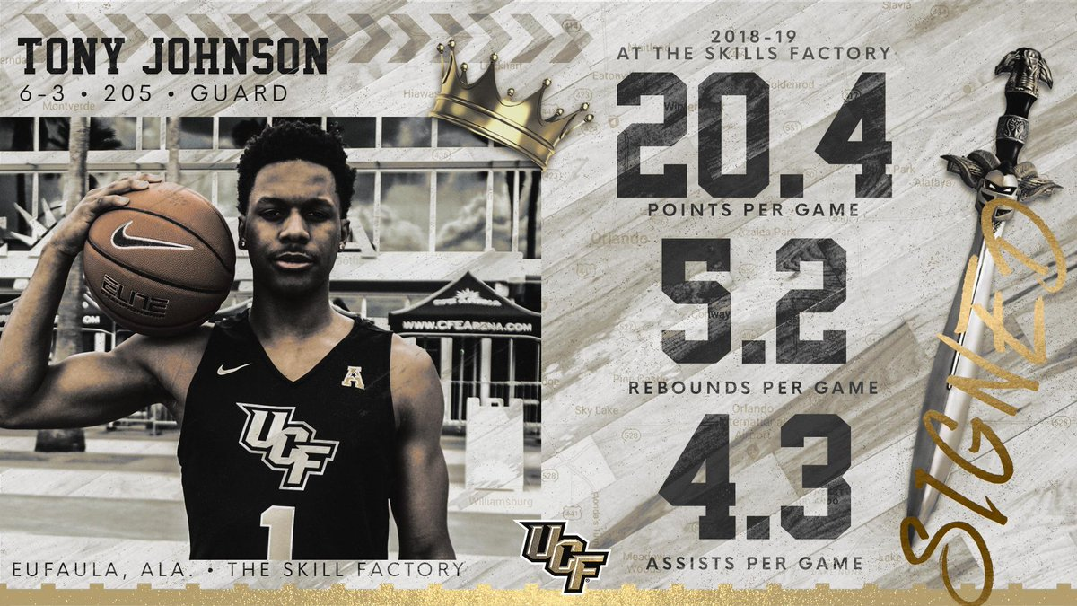 It's official! Tony Johnson Jr. is a Knight!! ⚔️  Join us in welcoming @TonyJohnson_0 to the #UCFamily! ✊  #ChargeOn