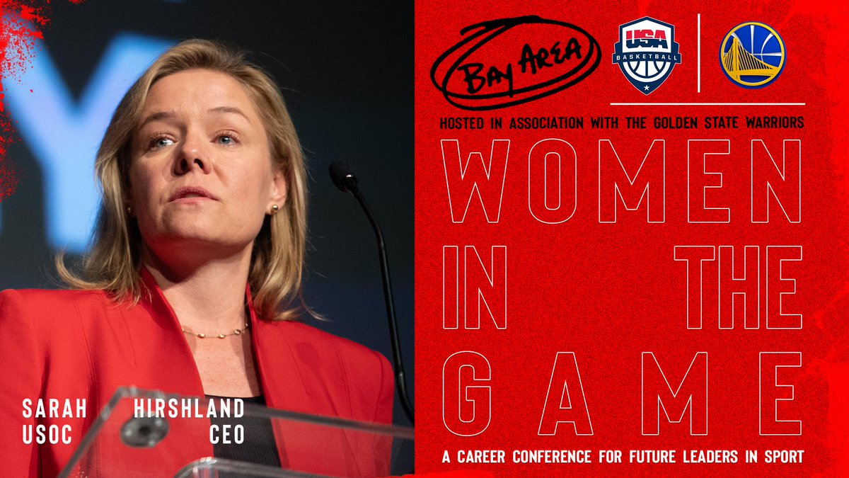 CEO of @TeamUSA Sarah Hirshland is set to speak at the USA Basketball Women in the Game Conference in the Bay Area on May 18-19.  Hosted in affiliation with the @warriors, Women in the Game is a career conference for future leaders in sport.  »» http://bit.ly/2019WITGBayArea
