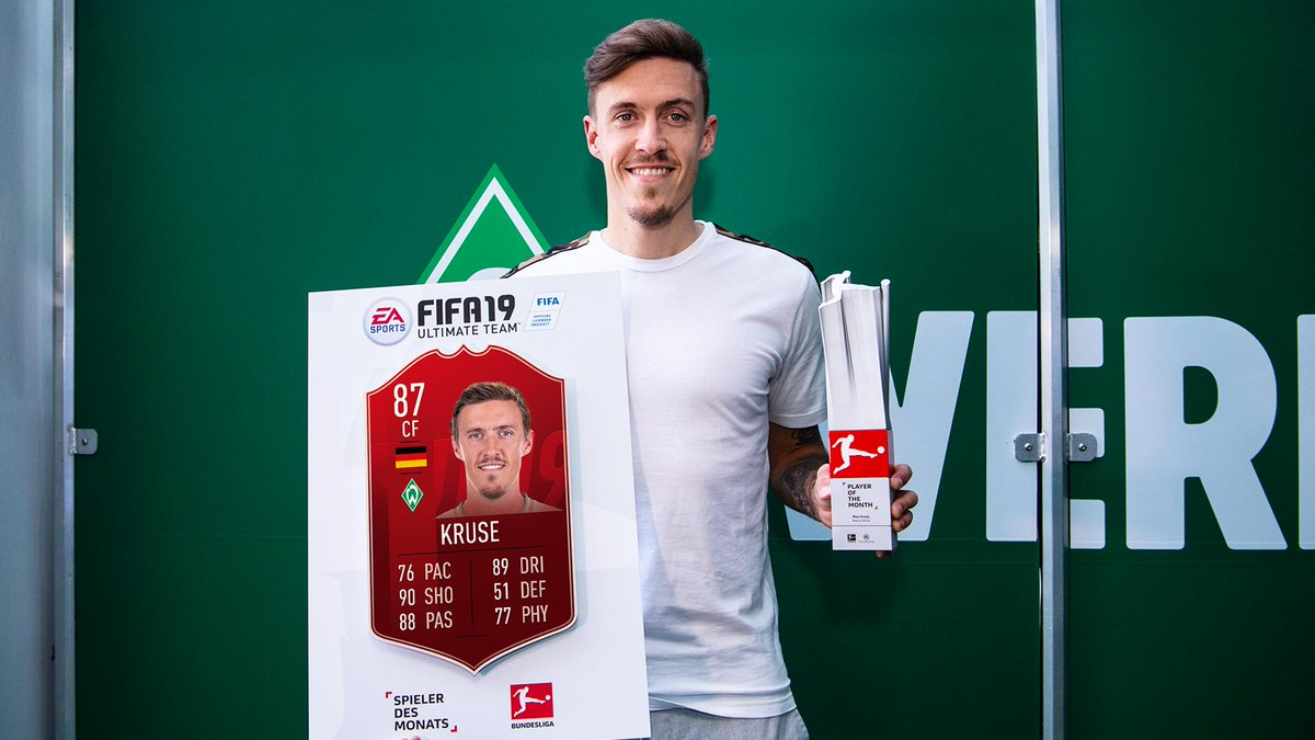 4 games. 6 goals. 3 assists. Max Kruse's March was 😎 Congrats to the new @Bundesliga_EN POTM! #FIFA19 #FUT