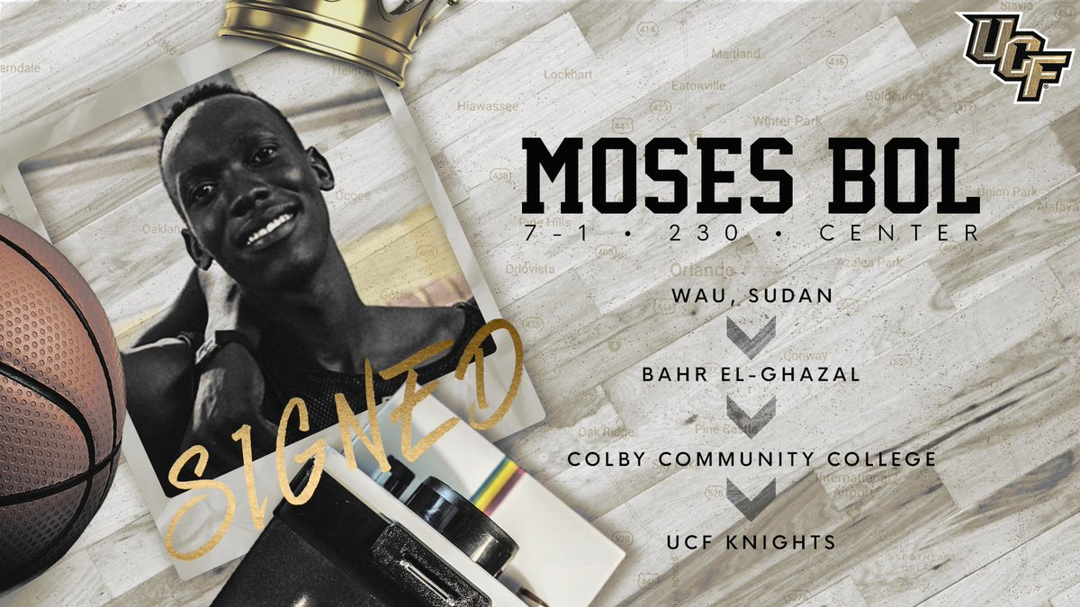 More size to the mix!  7-foot-1 Moses Bol is now a Knight!! ⚔️  #ChargeOn