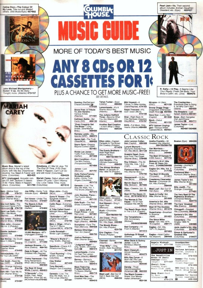 Nope they where actually popular music of the time. It was a company called Columbia House. #ColumbiaHouse #RememberCDsForAPenny