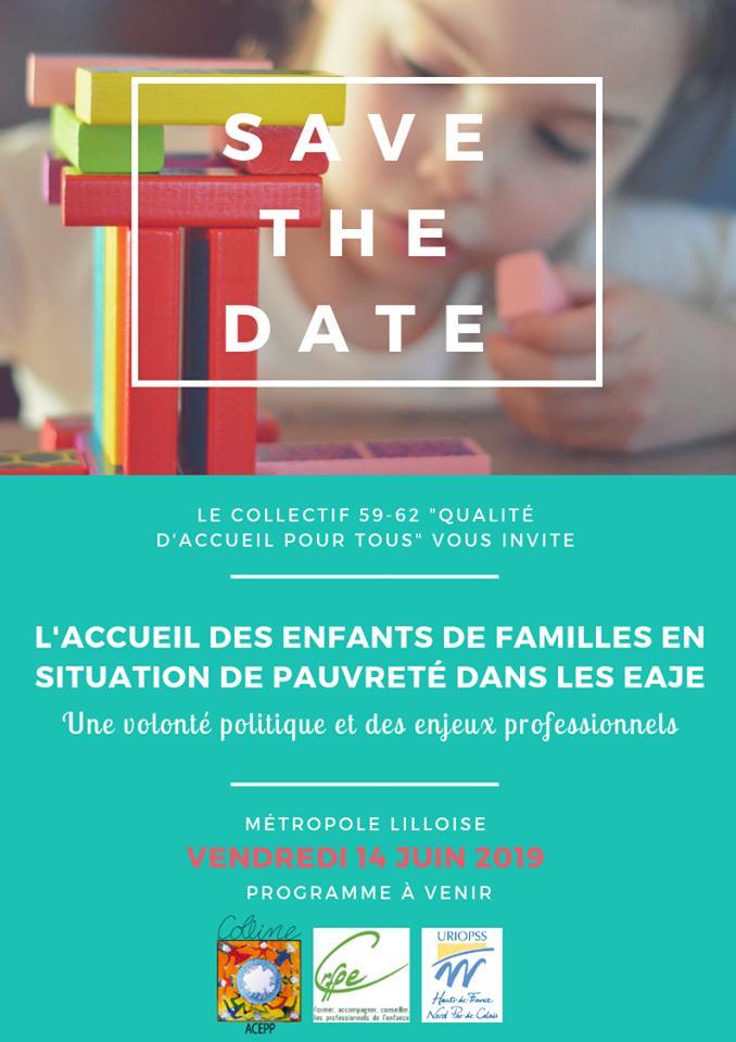 """📌 [#Agenda] Le collectif 59/62 """"Qualité d'accueil pour tous"""" vous invite au colloque """"L'accueil des enfants de familles en situation de pauvreté dans les EAJE""""  📆 Vendredi 14 juin 2019 📍 Lille 📝 Programme ➡https://www.uriopss-hdf.fr/sites/default/files/evenement/fichiers/programme_colloque_pe_14juin.pdf… 🖊 Inscription ➡ https://docs.google.com/forms/d/e/1FAIpQLSehnV4soPYwVKv2b06VjrVW2qEON4oVyaje_ws8w6Mz5J7CwA/viewform?vc=0&c=0&w=1…"""