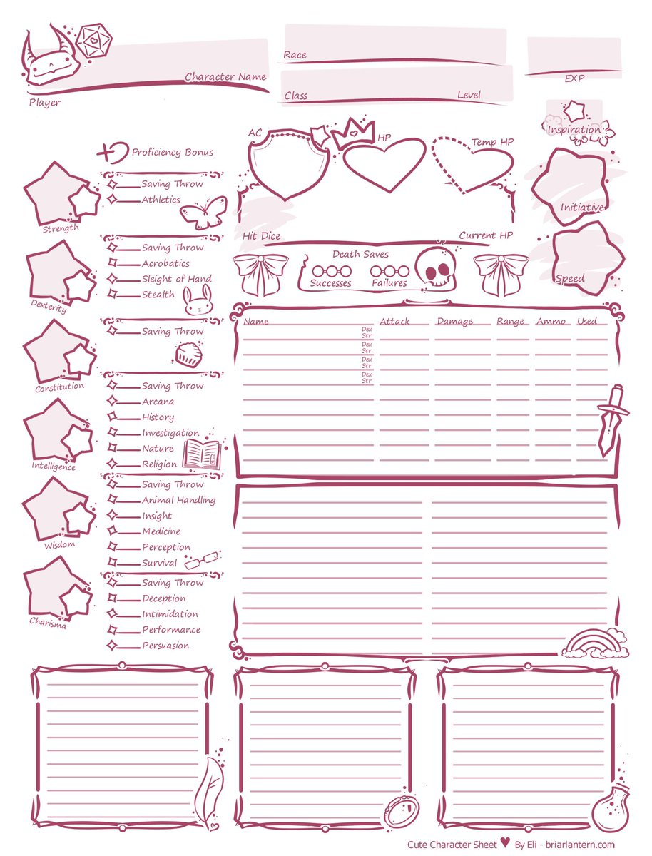 It is an image of D&d 5e Printable Character Sheet throughout vintage