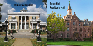 .@BelmontMBB and @SetonHallMBB left the NCAA tournament early, but @BelmontUniv and @SetonHall are still alive in #MarchitectureMadness! A few more days to vote for your favorite campus buildings and win prizes http://bit.ly/2IfHnGh