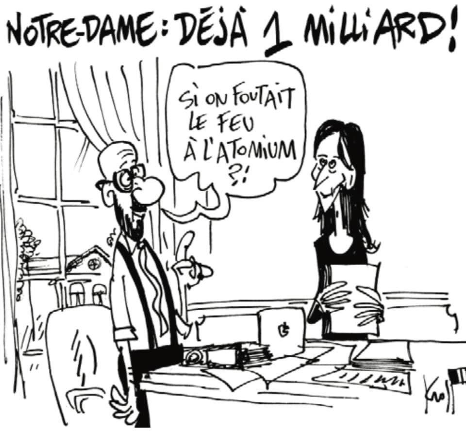 RT @michelhenrion: Le Kroll ( via  @lesoir) #NotreDame #BeGov https://t.co/z1ZAskdB6G