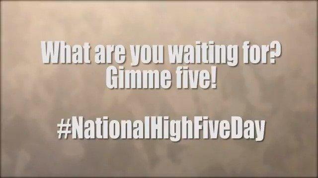 U.S. Dept of Defense's photo on #NationalHighFiveDay