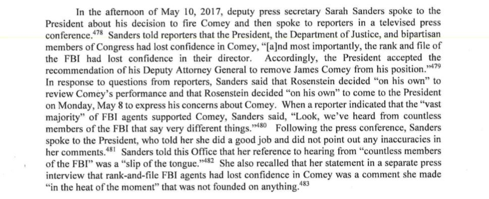 Yes. Here's that section of the report. It's worth the read. There's no reason to believe anything she says.