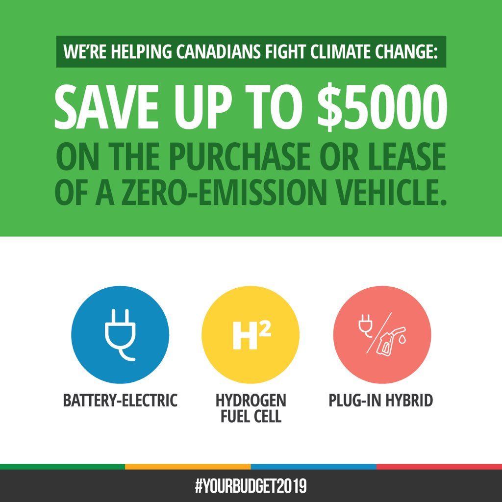 As of May 1st, if you purchase a zero-emission vehicle, you will receive an incentive of up to $5000! Our government is investing in clean transportation – helping to support clean jobs and economic growth while protecting the future for our children and grandchildren.