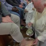 Image for the Tweet beginning: Foot-washing ritual begins at #HolyThursdayMass