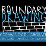 Image for the Tweet beginning: Boundary Drawing's opening is tonight