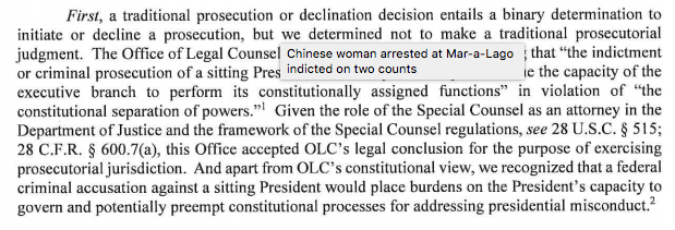 Barr totally lied about why Mueller didn't decide whether Trump obstructed.  https://www.justice.gov/storage/report.pdf…