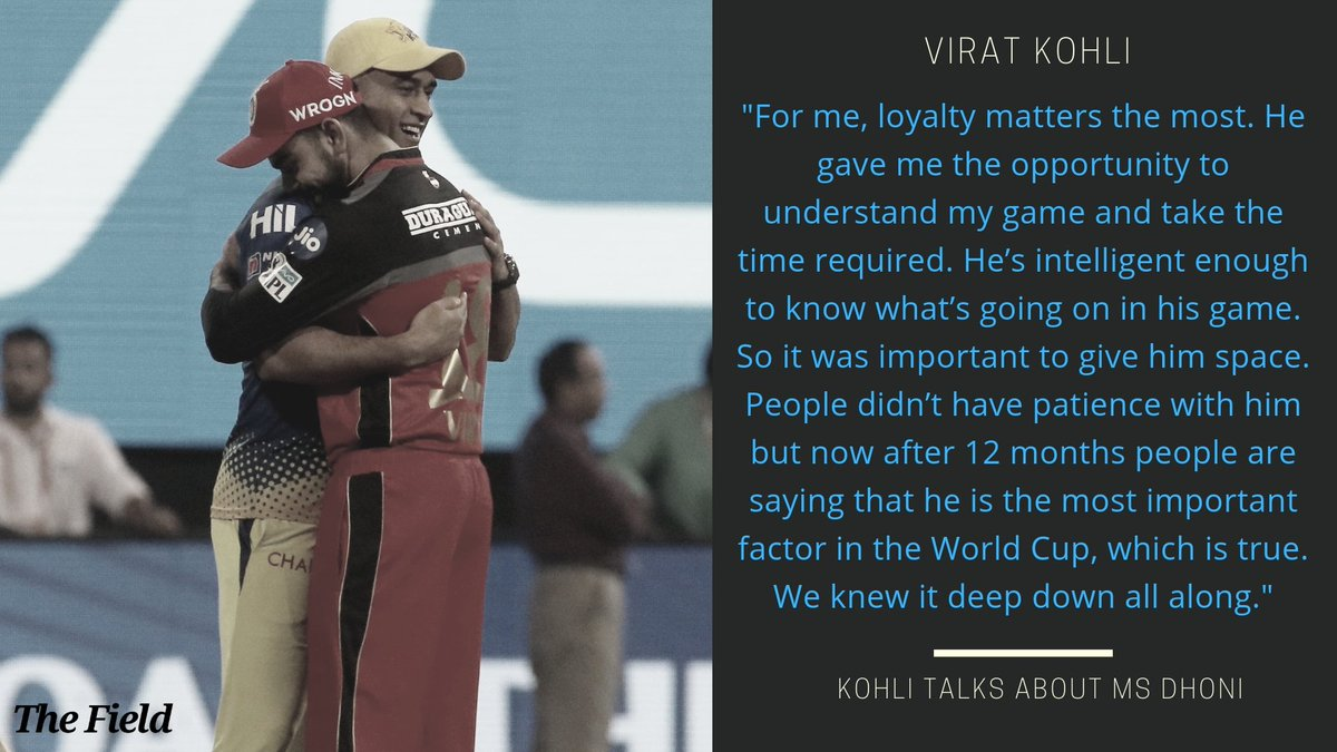 #WorldCup2019  Yet another example of Virat Kohli's repsect for MS Dhoni 👇👇  Read more here: https://t.co/h7c17hif1f https://t.co/d10AEh4aAT