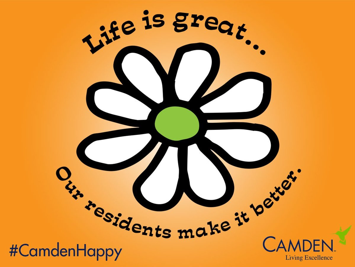 Life is always great with Camden! Make sure to stop by before 5:30pm so we can show you how to join the Camden Family & make your life & our lives better! #LuxuryLiving #CamdenHappy