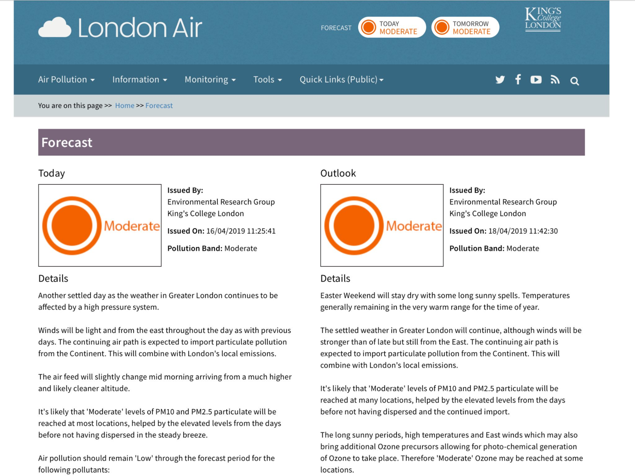 Clean Air in London on Twitter: