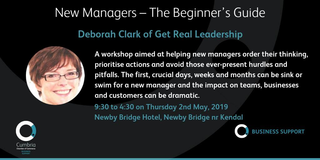 test Twitter Media - New Managers – The Beginner's Guide with Deborah Clark of Get Real Leadership 2nd May – Newby Bridge Hotel, Newby Bridge nr Kendal on May 2, 9:30 am - 4:30 pm. Full details and booking at https://t.co/vErM4phSpf https://t.co/v3l1cXc6lY