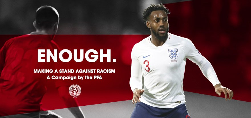 #Enough 👊🏽👊🏼👊🏿 Making a stand against racist abuse! A player led 24hr boycott on social media. Read more: thepfa.com/enough-is-enou…