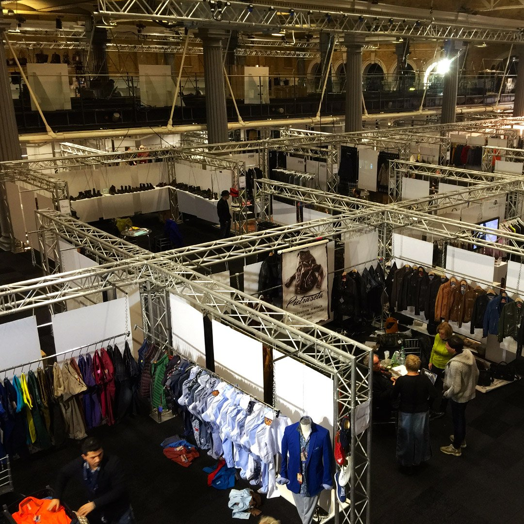 Looking for a different approach to your exhibition? We built this  truss structure to create bespoke fashion stands. #EOL #eventprofs #Exhibition #London #eventproduction