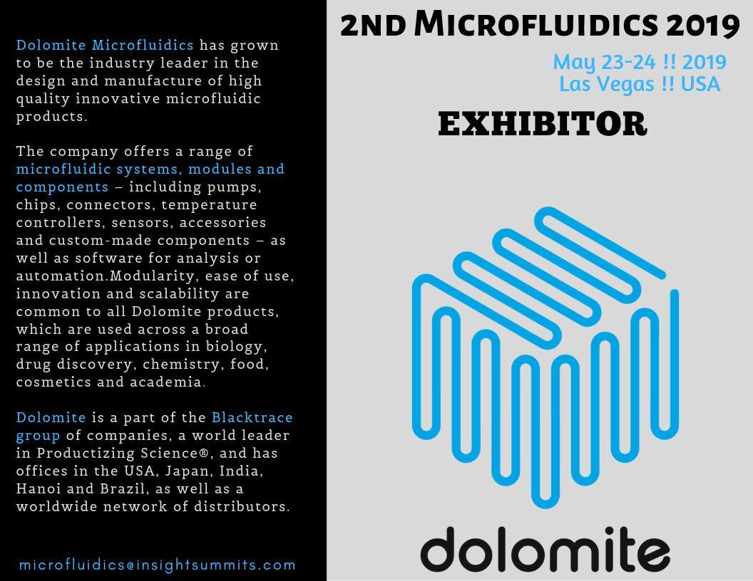 #Microfluidics_2019 #May 23-24, 2019 #Las_Vegas, #USA #Exhibitor Meet the exhibitor of 2nd International Microfluidics Congress, which is to be held May 23-24, 2019, Las Vegas, USA, #Dolomite_Microfluidics.Wb:https://lnkd.in/fGcj7kipic.twitter.com/8ctqPet095
