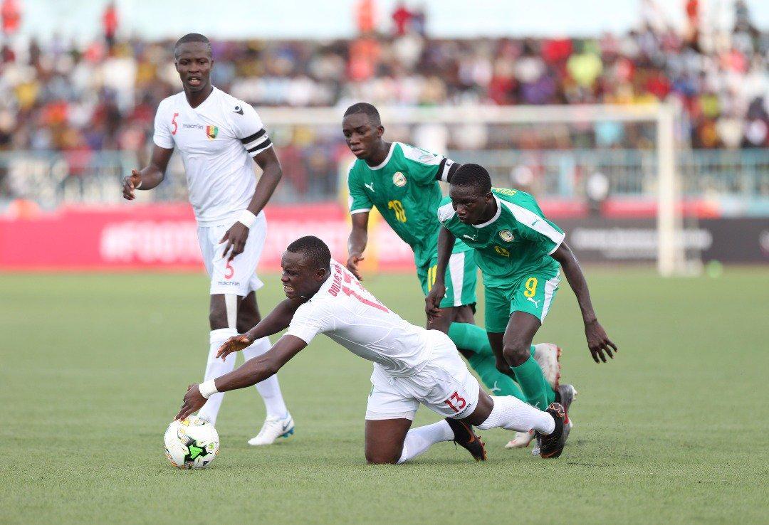 FT: Senegal 🇸🇳 1-2 🇬🇳 Guinea  #TotalAFCONU17
