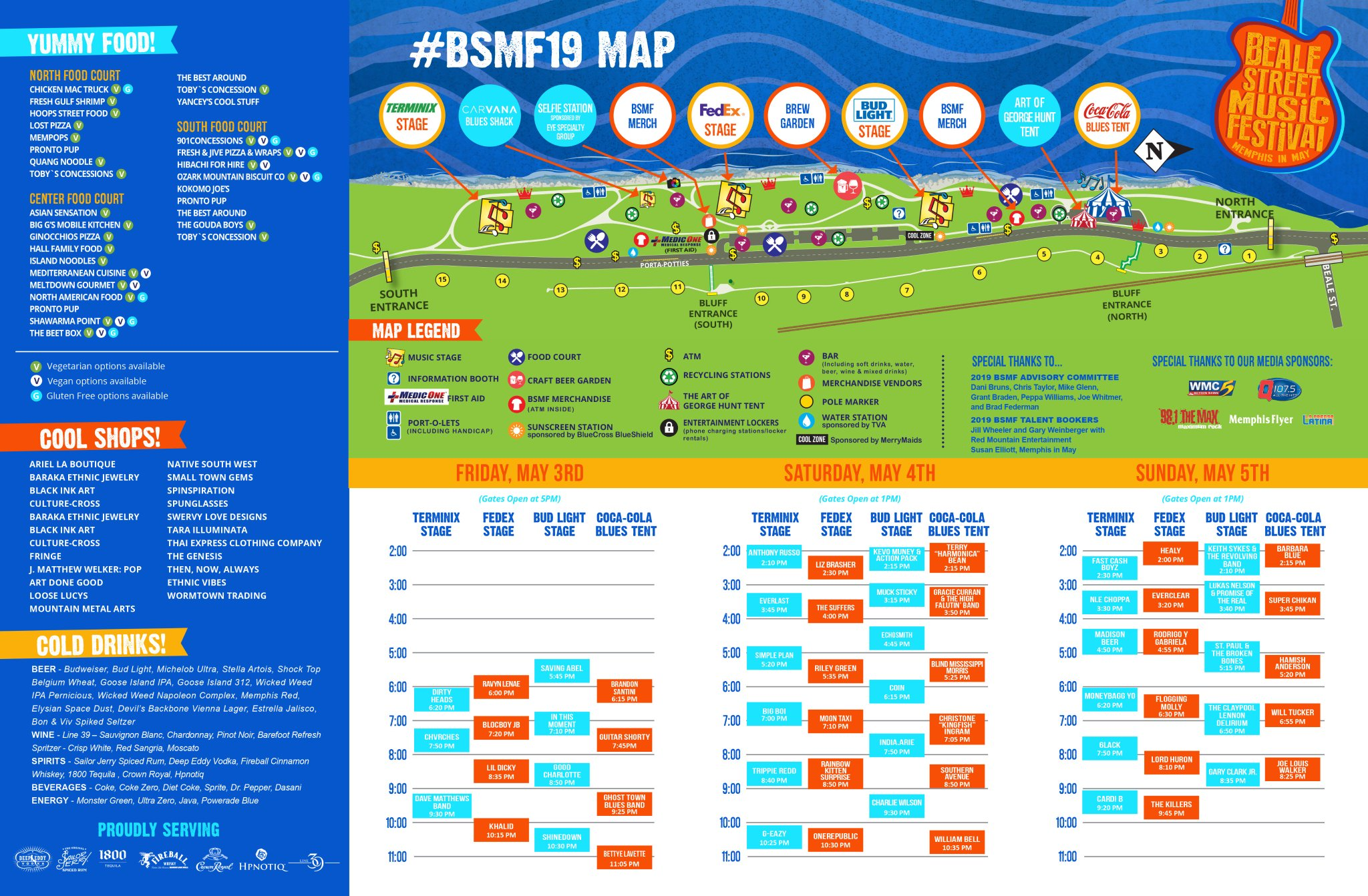 Beale Street Music Festival 2020 venue map