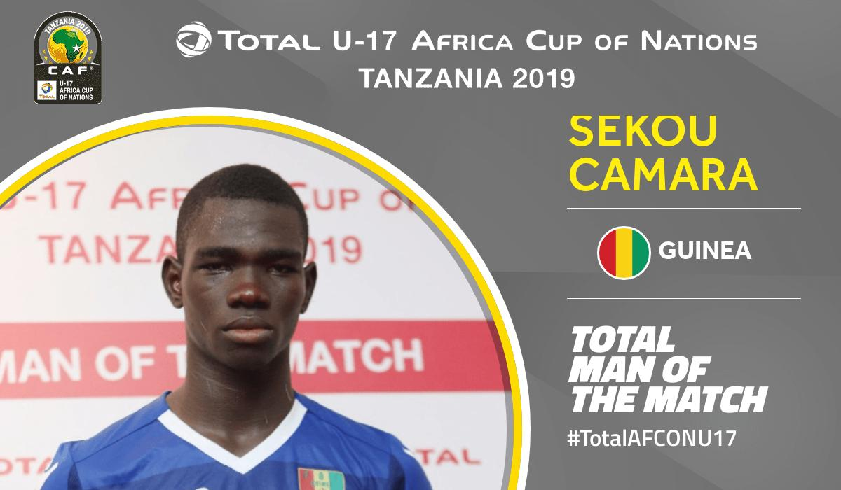 Congratulations to Total Man of the Match of Senegal 🆚 Guinea Sekou Camara No.16 from Guinea  #TotalAFCONU17