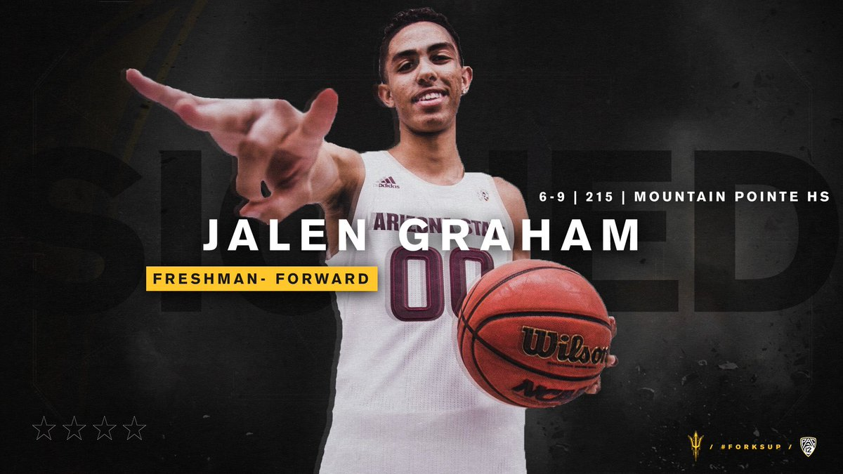 Hey ⁦@TheSunDevils⁩ nation time to welcome ⁦@JalenGraham9⁩ !!! #ForksUp