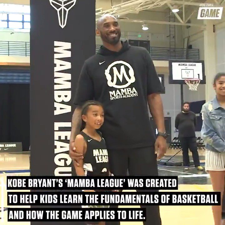 It's more than a game.  @kobebryant's Mamba League empowers kids not only in basketball but also in life.