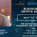 Image for the Tweet beginning: Join us for the BLOCKCHAIN
