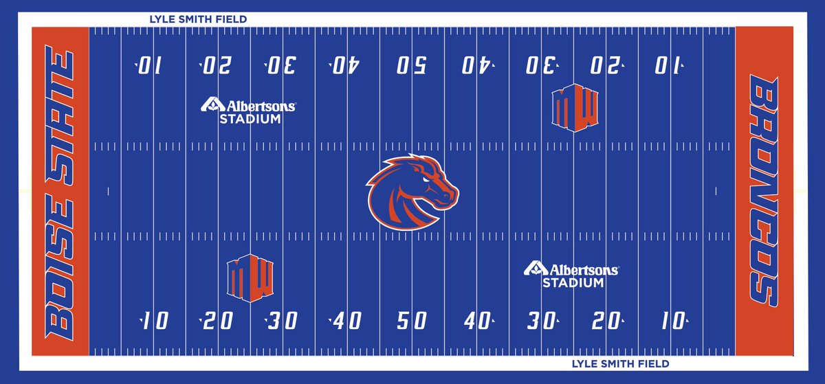 #BoiseState began construction this week! They will replace their iconic blue turf over the next month.   This is what the updated version will look like... <br>http://pic.twitter.com/kjP74AkcLB