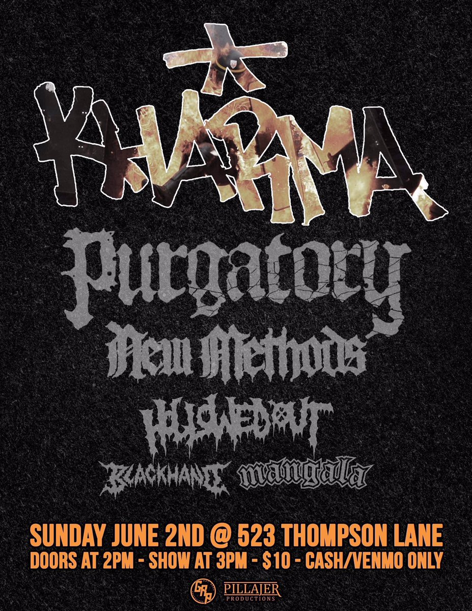 june 2nd in austin  playing with some SICK bands  bring the mf heat bitches