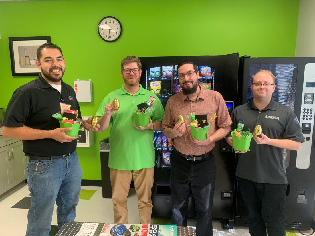 Congratulations to these four on finding the &quot;golden&quot; eggs during the office egg hunt this morning! #lifeatGCW #civilengineering #egghunt<br>http://pic.twitter.com/IYUUPop1Tp