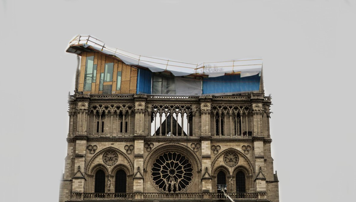 Can&#39;t believe construction to rebuild the Notre Dame is already underway <br>http://pic.twitter.com/4QNta8c17K