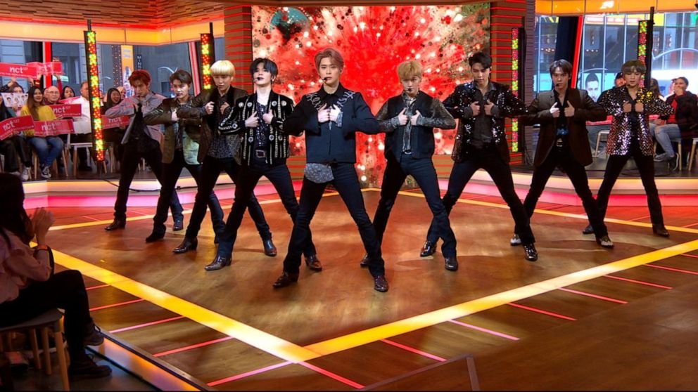 WATCH: @NCTsmtown_127 perform #CherryBomb and #SuperHuman on @GMA.  https:// gma.abc/2VRz1Za  &nbsp;  <br>http://pic.twitter.com/fBFipzPNNa