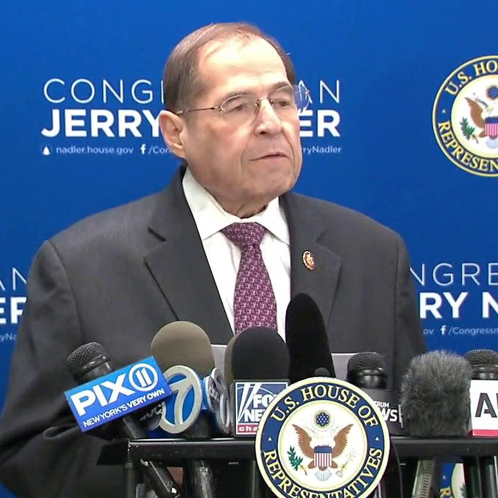 UNBELIEVABLE! Nadler is playing up to his followers. The legal matter is over and President Trump is cleared. Mueller didn't have enough evidence to convict the President and AG Barr made his decision. STOP THE HARASSMENT! This is Appalling! Agree?🙋🏼♀️