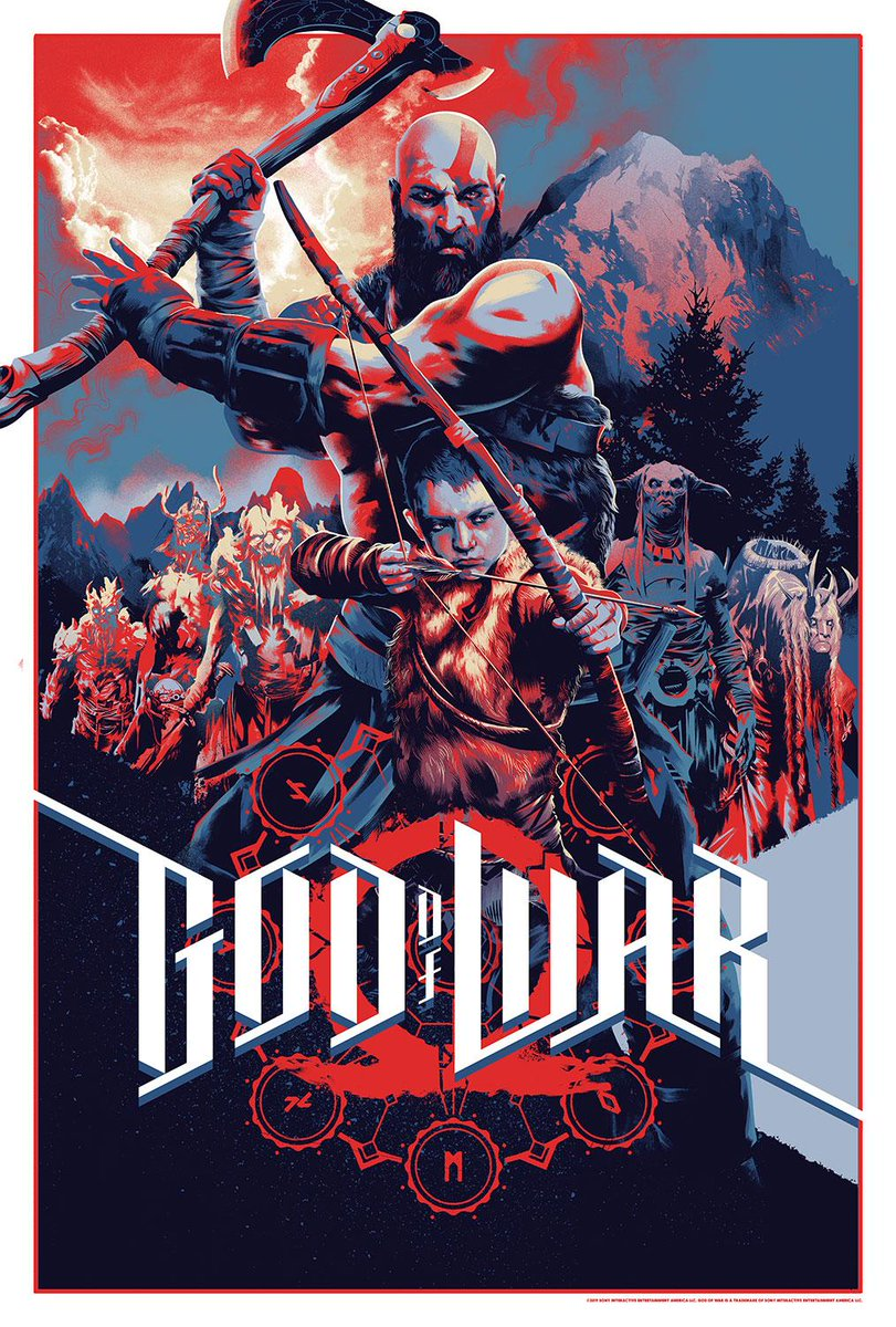 We&#39;re not done yet...  Proud to reveal incredible new #GodofWar Anniversary merchandise from our friends @MondoNews. This poster, pins, and Kratos figurine were crafted by their amazing artists. Head over to this special page to sign-up for sale alerts  http:// bit.ly/2vbDev3  &nbsp;  <br>http://pic.twitter.com/9CjgzKRUoq