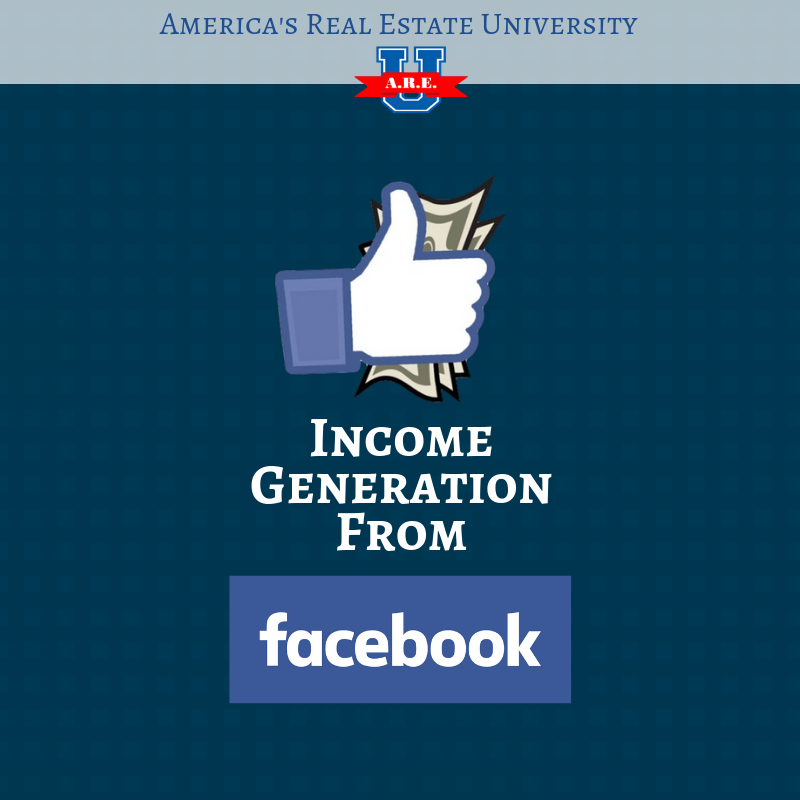 Looking for new ways to generate business? Have you tried Facebook? Check out our Income Generation from Facebook course!  http://www. AREUCampus.com  &nbsp;   #realestate #homes #realtor #loanofficer <br>http://pic.twitter.com/QET7o2dwcW