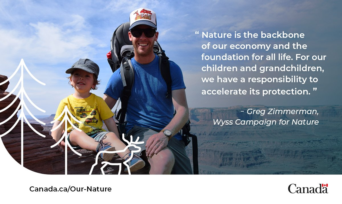 Greg works with @WyssCampaign to empower communities and strengthen connections to the land. They're setting ambitious goals to protect #OurNature. #NatureChampion