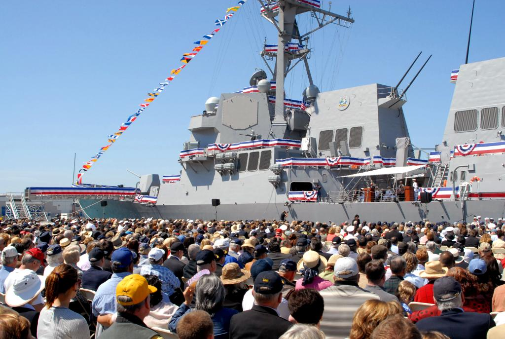 Today we are throwing it back #TBT to 2009 and the commissioning ceremony of the Arleigh Burke-class destroyer #USSStockdale #DDG106.  Thank you for 10 years of maintaining #NavyReadiness and #NavyLethality in defense of our nation and its allies.