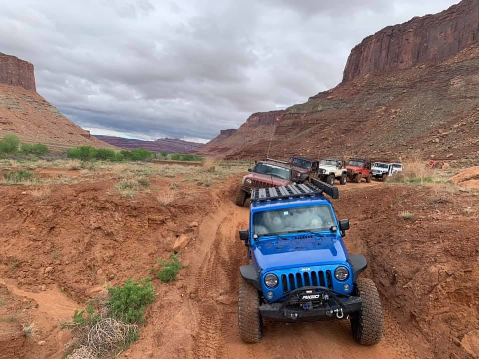 Another amazing vista along the trails in Moab with our friends from @bfgoodrichtires and their #KM3 off-road tires. #BuiltonBFG #easterjeepsafari #jeepsafari #jeeplife #utah #offroad<br>http://pic.twitter.com/7p0JEnWYbb